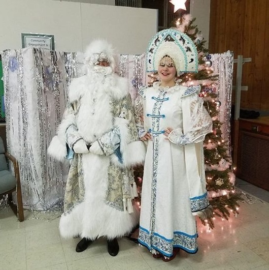Ded Moroz, Snegurochka, Russian New Years Celebration, Дед Мороз, Снегурочка, Hopewell, New Jersey