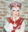Russian folk singer Irina Zagornova